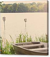 Wood Duck Boxes Canvas Print