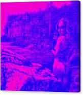 Wood Nymph In Pink And Blue Canvas Print