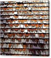 Wood Roof Shingles Canvas Print