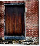 Wood Window Brick Wall Canvas Print