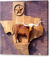 WOODCRAFTED Texas Longhorn Canvas Print