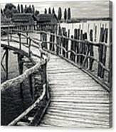 Wooden Boardwalk Canvas Print
