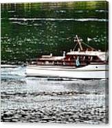 Wooden Boat With Skiff Canvas Print