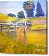 Wooden Bridge At Graften Canvas Print