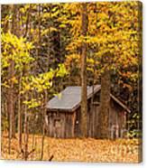 Wooden Cabin In Autumn Canvas Print