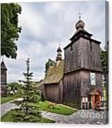 Wooden Church In Rabka Malopolska Poland Canvas Print