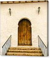 Wooden Colonial Style Door Canvas Print