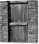 Wooden Door And Stone Wall 1 Canvas Print