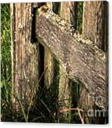 Wooden Fence Fragment Canvas Print