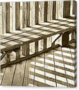 Wooden Lines - Semi Abstract Canvas Print