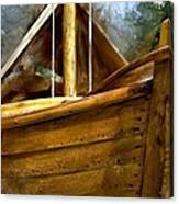 Wooden Mackinaw Boat Canvas Print
