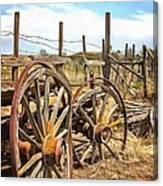 Wooden Ranch Wagon Canvas Print