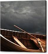 Wooden Rowboat Canvas Print