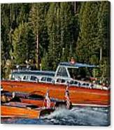Wooden Runabouts Of Tahoe Canvas Print