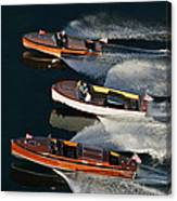 Wooden Runabouts On Lake Tahoe Canvas Print
