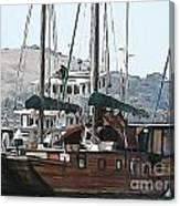 Wooden Sailboat Canvas Print