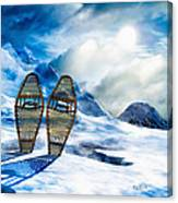 Wooden Snowshoes  Canvas Print