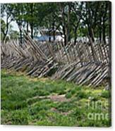 Wooden Spiked Fence Canvas Print