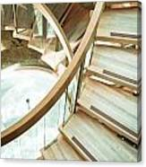 Wooden Staircase Canvas Print