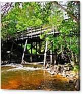 Wooden Suspension Bridge Canvas Print