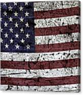 Wooden Textured U. S. A. Flag Canvas Print