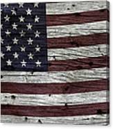 Wooden Textured Usa Flag3 Canvas Print