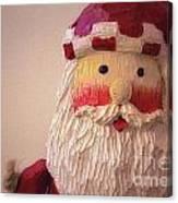 Wooden Toy Santa Canvas Print