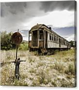 Wooden Train - Final Resting Place  Canvas Print