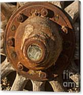 Wooden Wagon Wheel Canvas Print