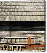 Wooden Window And Roof  Canvas Print
