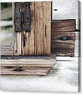 Wooden Window Frame Canvas Print