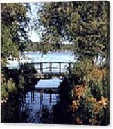 Woodfoot Bridge Of Williams Bay Wi Over Geneva Lake  Canvas Print