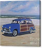 Woodie On Beach Canvas Print