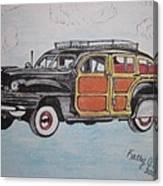 Woodie Station Wagon Canvas Print