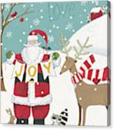 Woodland Christmas X Canvas Print