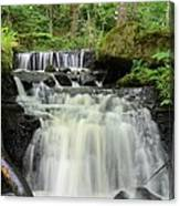 Woodland Waterfall Canvas Print