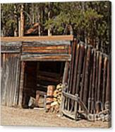 Woodshed On The Holzwarth Historic Site Canvas Print