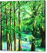 Woodside View Green Canvas Print