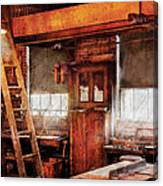Woodworker - Old Workshop Canvas Print