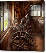 Woodworker - The Art Of Lathing Canvas Print