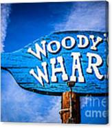 Woody's Wharf Sign Newport Beach Picture Canvas Print