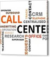 Word Cloud - Call Center Canvas Print