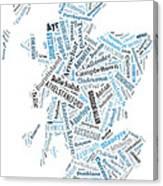 Wordcloud Of Scotland Canvas Print