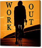 Work Out Vertical Work One Canvas Print