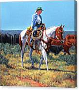 Working Cowgirl Canvas Print
