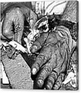 Working Hands Canvas Print