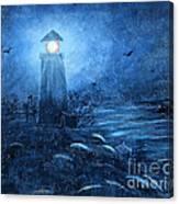 Working Night Shift In The Rain Canvas Print