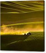 Working The Fields In The Palouse Canvas Print