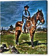 Working The Ranch Canvas Print
