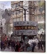 World Time Clock Berlin Canvas Print